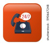 24 7  old phone service | Shutterstock .eps vector #590667248