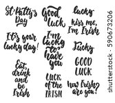 hand drawn lettering phrases... | Shutterstock . vector #590673206