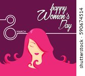 woman's day illustration | Shutterstock .eps vector #590674514