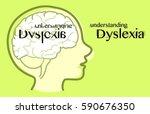 understanding dyslexia  see how ... | Shutterstock .eps vector #590676350
