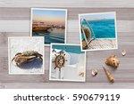 part of set. beautiful seaside...   Shutterstock . vector #590679119