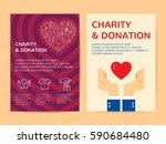 charity and donation banner... | Shutterstock .eps vector #590684480