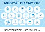 medical diagnostic vector icon... | Shutterstock .eps vector #590684489