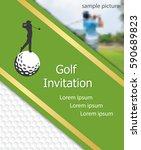 golf tournament invitation... | Shutterstock .eps vector #590689823