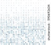 binary code digital technology... | Shutterstock .eps vector #590692634