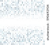 binary code digital technology...   Shutterstock .eps vector #590692934