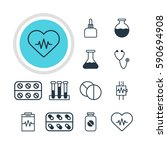 illustration of 12 medical... | Shutterstock . vector #590694908