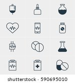 illustration of 12 medical... | Shutterstock . vector #590695010