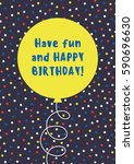 fun birthday card design with... | Shutterstock .eps vector #590696630