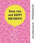 fun birthday card design with... | Shutterstock .eps vector #590696654
