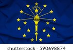 flag of indiana state  usa  | Shutterstock . vector #590698874