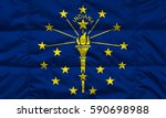 flag of indiana state  usa  | Shutterstock . vector #590698988