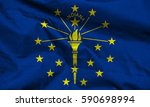 flag of indiana state  usa  | Shutterstock . vector #590698994