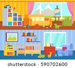 a set of furniture for children'... | Shutterstock .eps vector #590702600