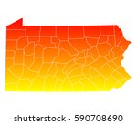 map of pennsylvania | Shutterstock .eps vector #590708690