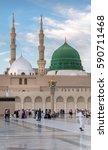 medina  kingdom of saudi arabia ... | Shutterstock . vector #590711468