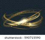 vector circle light effect with ... | Shutterstock .eps vector #590715590
