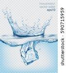 transparent vector water splash ... | Shutterstock .eps vector #590715959