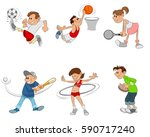 vector illustration of a six... | Shutterstock .eps vector #590717240