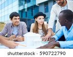 multi ethnic group of young... | Shutterstock . vector #590722790
