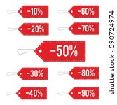 red leather sale price tags set.... | Shutterstock . vector #590724974