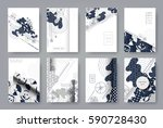 set of templates a4 pages.... | Shutterstock .eps vector #590728430