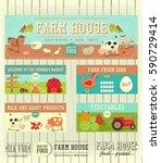 farm house posters set on white ... | Shutterstock .eps vector #590729414