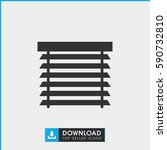 window shutter icon. simple... | Shutterstock .eps vector #590732810