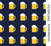 seamless pattern of beer mugs. | Shutterstock .eps vector #590740214