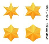 Set Of Four Golden Six Point...