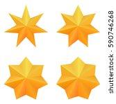 set of four golden seven point... | Shutterstock .eps vector #590746268