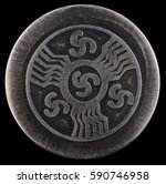 Small photo of Triskelion also triskele, triskele, triskele from the Greek