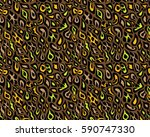 leopard pattern  vector ... | Shutterstock .eps vector #590747330