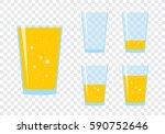 glasses with fresh sparkling... | Shutterstock .eps vector #590752646