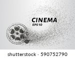 cinema of the particles. cinema ... | Shutterstock .eps vector #590752790