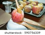 fruit  apples  honey.. | Shutterstock . vector #590756339