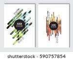 flyer layout template. vector... | Shutterstock .eps vector #590757854