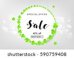 sale poster for st. patrick's...   Shutterstock .eps vector #590759408