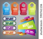 web sale banner | Shutterstock .eps vector #590761136