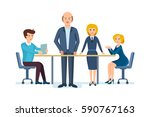 business people working office. ... | Shutterstock .eps vector #590767163