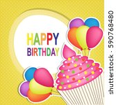 happy birthday  | Shutterstock .eps vector #590768480