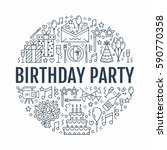 event agency  birthday party... | Shutterstock .eps vector #590770358