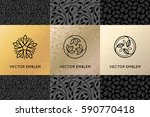 vector set of design elements ... | Shutterstock .eps vector #590770418