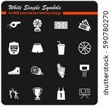 basketball vector icons for... | Shutterstock .eps vector #590780270