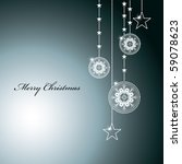 abstract christmas background.... | Shutterstock .eps vector #59078623