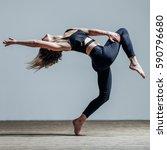 young beautiful dancer posing...   Shutterstock . vector #590796680