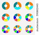 circle chart set. round pie... | Shutterstock .eps vector #590802443