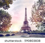 romantic sunset background.... | Shutterstock . vector #590803838
