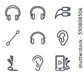 ear icons set. set of 9 ear... | Shutterstock .eps vector #590808506