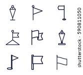 pennant icons set. set of 9...